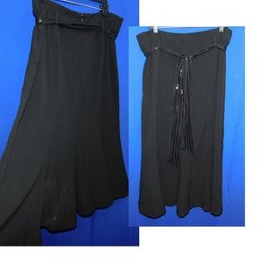 Dresses & Skirts - Mermaid Black Gothic Skirt Plus 18 w/ Belt